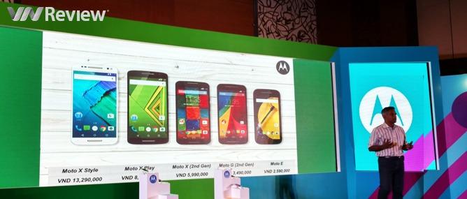 Motorola chính thức trở lại Việt Nam với loạt Moto X, X Play, X Style, G và E