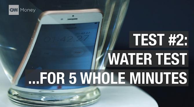 CNN thử nghiệm: iPhone 6S chết toi sau 5 phút ngâm nước