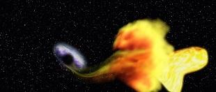 Khoảnh khắc ấn tượng khi lỗ đen nuốt chửng một ngôi sao