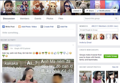 Các nhóm rác tràn ngập trên Facebook với hàng trăm nghìn thành viên được thêm vào tự động.