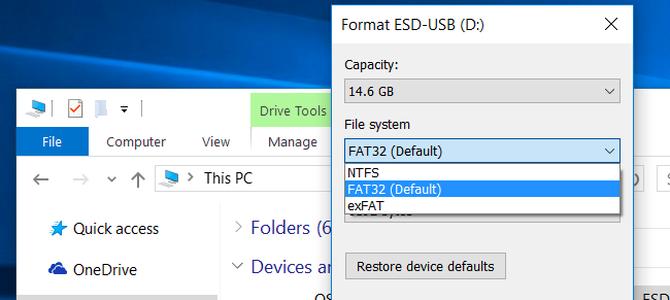Phân biệt các định dạng NTFS, FAT32 và exFAT