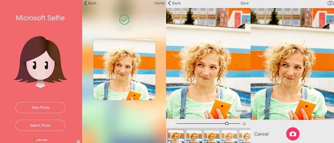 Microsoft phát hành ứng dụng Selfie cho iOS