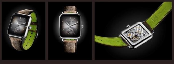 Đồng hồ Thụy Sĩ sao chép thiết kế Apple Watch, giá 2500 USD
