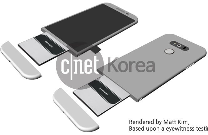 LG G5 có thể dùng vỏ kim loại tháo rời
