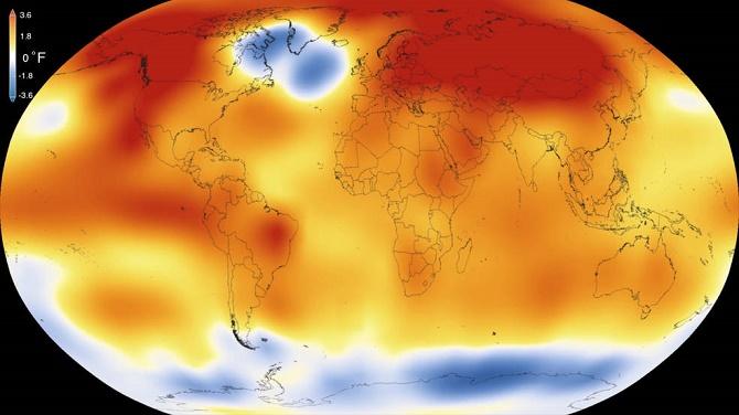 Trong một thông báo trên trang web chính thức, Cơ quan Hàng không Vũ trụ Mỹ NASA cho biết các nghiên cứu độc lập của cơ quan này và Cục Quản lý Khí quyển và Đại dương Mỹ đã xác nhận năm 2015 là năm nóng nhất trong vòng 135 năm qua.
