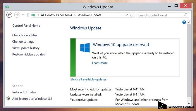 Nếu để cho Windows tự động cập nhật theo khuyến cáo, bạn có thể sẽ bất ngờ khi bật máy và phát hiện ra chiếc PC chạy Windows 7/8.1 của mình giờ đã
