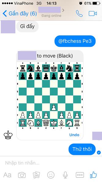 Facebook Messenger ẩn chứa một bí mật nhỏ khá thú vị: bạn có thể chơi cờ vua bên trong ứng dụng này.
