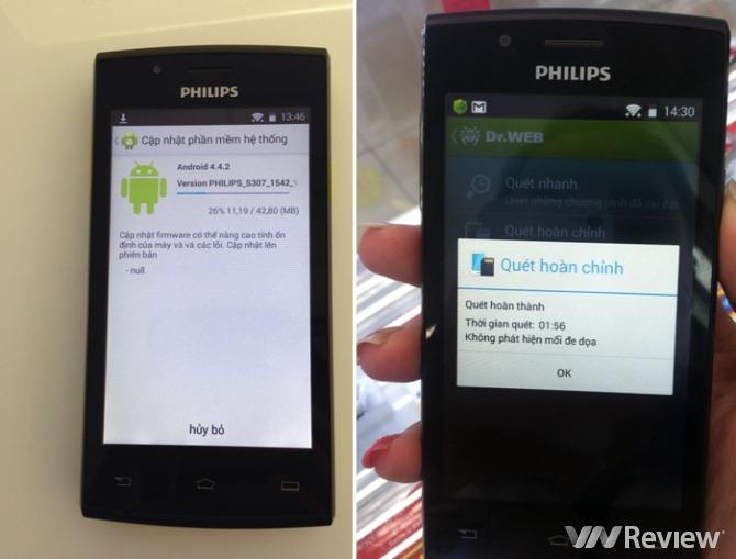 Điện thoại Philips S307 'đã được loại bỏ mã độc'