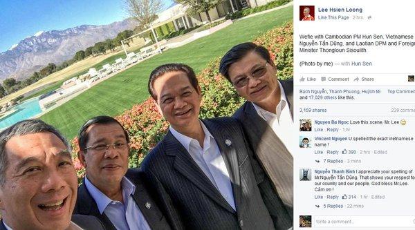 Ảnh selfie gây sốt của Thủ tướng Nguyễn Tấn Dũng tại Mỹ