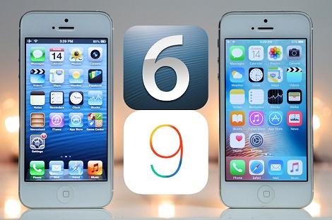 Video so sánh hiệu năng iOS 6 và iOS 9 trên iPhone 5