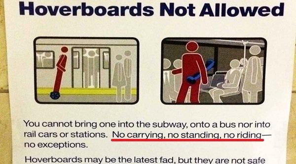 New York cấm triệt để hoverboard, kể cả... cầm trên tay