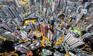 """Hồng Kông """"đông như kiến"""" qua ống kính drone"""