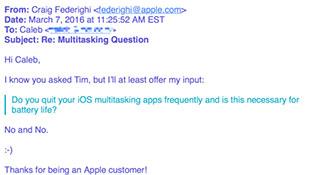Apple khẳng định tắt ứng dụng không giúp tiết kiệm pin
