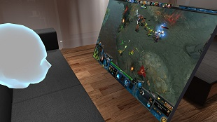Phần mềm đưa màn hình desktop vào không gian thực tế ảo