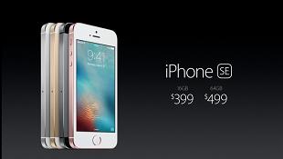 iPhone SE chính thức: màn hình 4 inch, chip xử lý A9, camera 12MP, giá 399 USD
