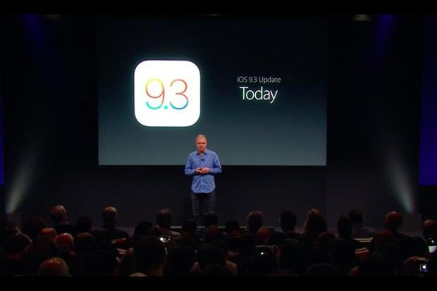 iOS 9.3 đã sẵn sàng cho download