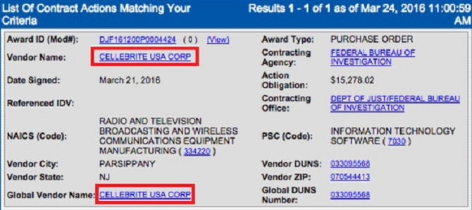 FBI trả Cellebrite 15.278 USD để mở khóa chiếc iPhone 5c của Syed Farook?