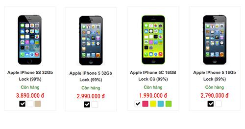 iPhone 5c lock đang sở mức giá tuyệt vời