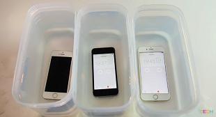 """iPhone SE """"sống khỏe"""" sau 1 tiếng ngâm nước"""