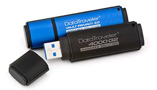 Kingston ra mắt USB Flash có sẵn tính năng quản lý, mã hóa phần cứng