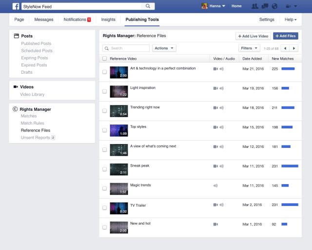 Facebook mạnh tay với video vi phạm bản quyền