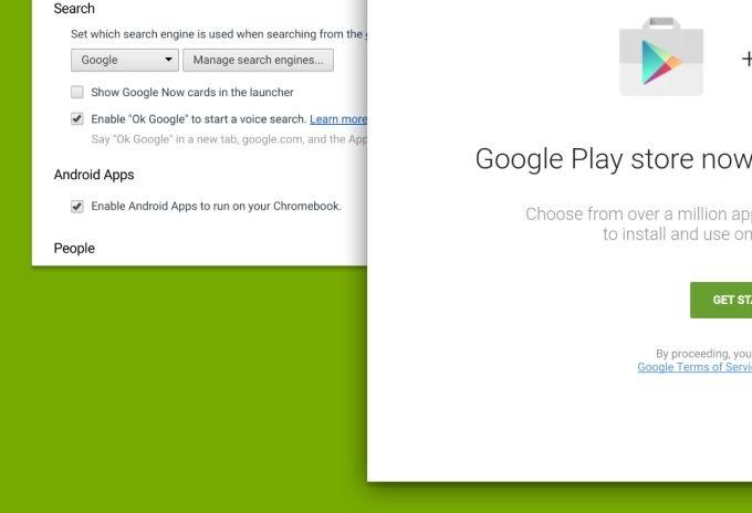 Google Play Store có thể có mặt trên Chrome OS với khoảng 1 triệu ứng dụng từ Android