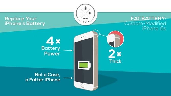 Fat Battery mod sẽ giúp iPhone 6 chơi video được 36 giờ?