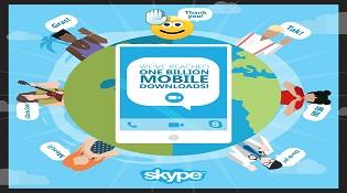Hơn 1 tỷ lượt download ứng dụng Skype