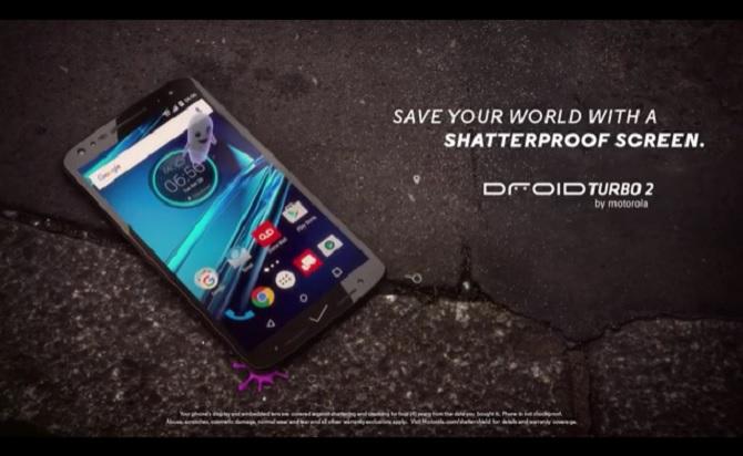 Motorola dùng iPhone 6s và Galaxy S7 làm nền trong quảng cáo Droid Turbo 2