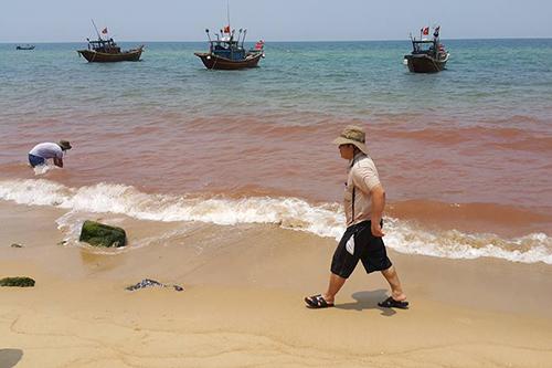 Vệt nước ở Quảng Bình không phải là thủy triều đỏ