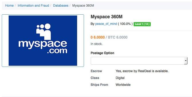427 triệu mật khẩu MySpace bị rò rỉ trực tuyến