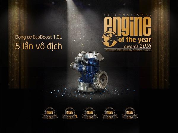 """Ford EcoBoost 1.0L nhận giải thưởng """"Động cơ nhỏ tốt nhất"""" năm thứ 5 liên tiếp"""
