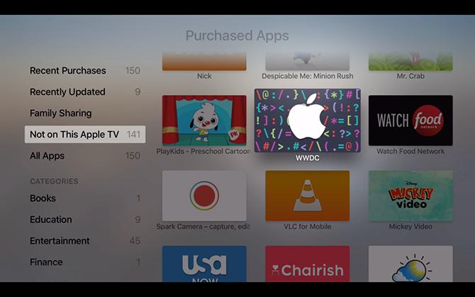 Ứng dụng xem WWDC 2016 đã hỗ trợ Apple TV