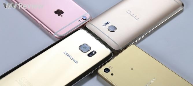 So chi tiết camera HTC 10, Galaxy S7 edge, iPhone 6s và Xperia Z5