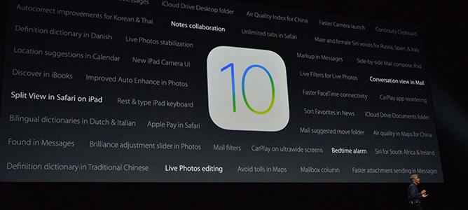 Apple chính thức ra mắt iOS 10