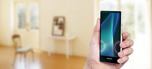 Smartphone Sharp với viền màn hình siêu mỏng