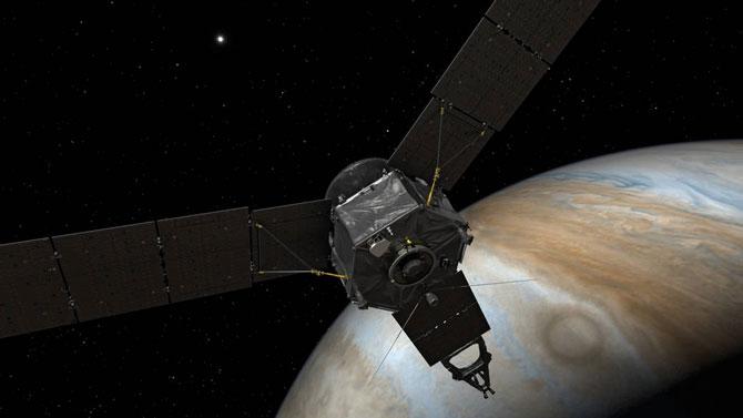 Tàu vũ trụ Juno đã bay vào quỹ đạo của Sao Mộc