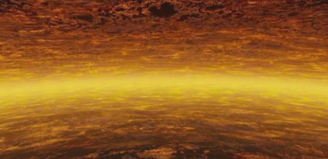 Mô phỏng bầu khí quyến Sao Mộc