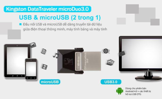 Kingston đồng loạt giảm giá USB OTG