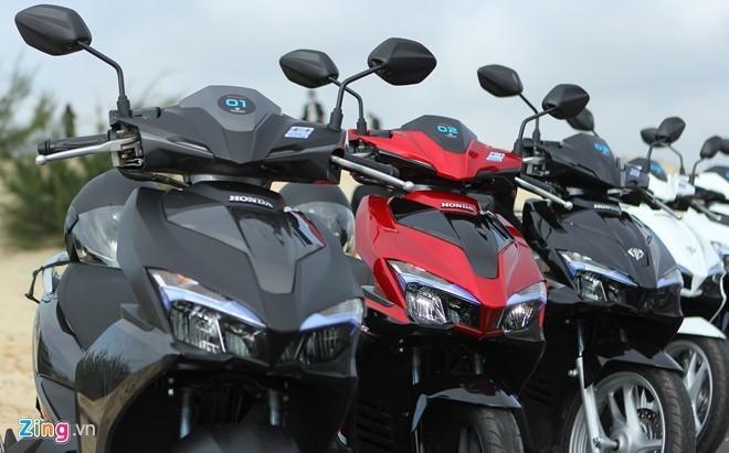 Hơn 1,4 triệu xe máy bán ra ở Việt Nam trong nửa đầu 2016