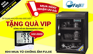 FujiE tặng đồng hồ đo ẩm 500.000 đồng cho khách mua tủ chống ẩm
