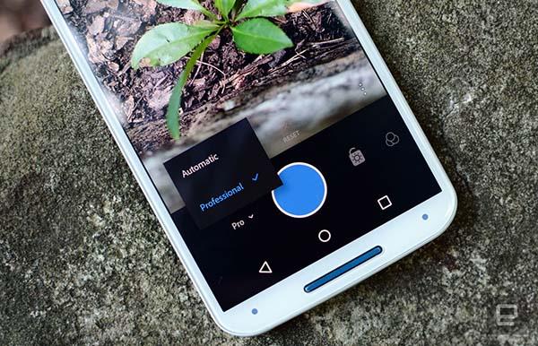 Chế độ chụp Pro của Lightroom Mobile trên Android