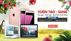 """Tiki mở """"vườn Táo-Sung"""", giảm giá mạnh sản phẩm Apple và Samsung"""