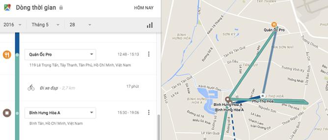 Google biết tất cả những nơi bạn đã đến trong ngày