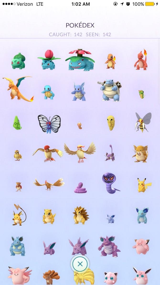 Đã có người di chuyển 95 dặm đường để bắt tất cả 142 con Pokémon
