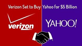 Verizon đang đàm phán mua lại Yahoo với giá 5 tỷ USD