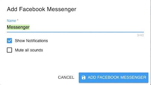 Thêm tài khoản trên All-in-One Messenger