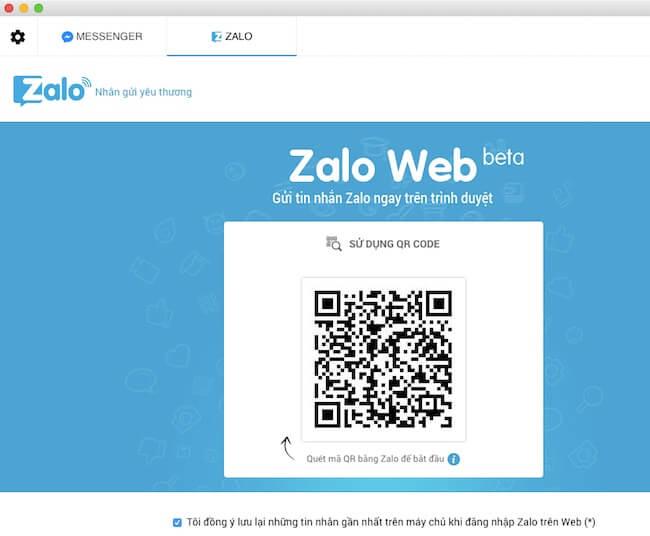 Đăng nhập vào Zalo
