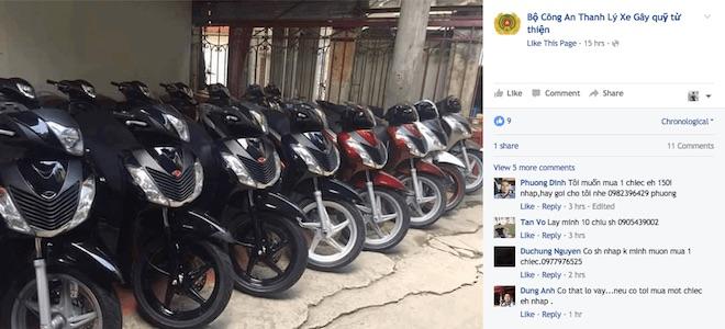 Giả mạo Bộ Công an lừa đảo bán xe trên Facebook