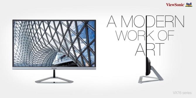 ViewSonic ra mắt màn hình 27 inch kiểu dáng đẹp, giá tốt